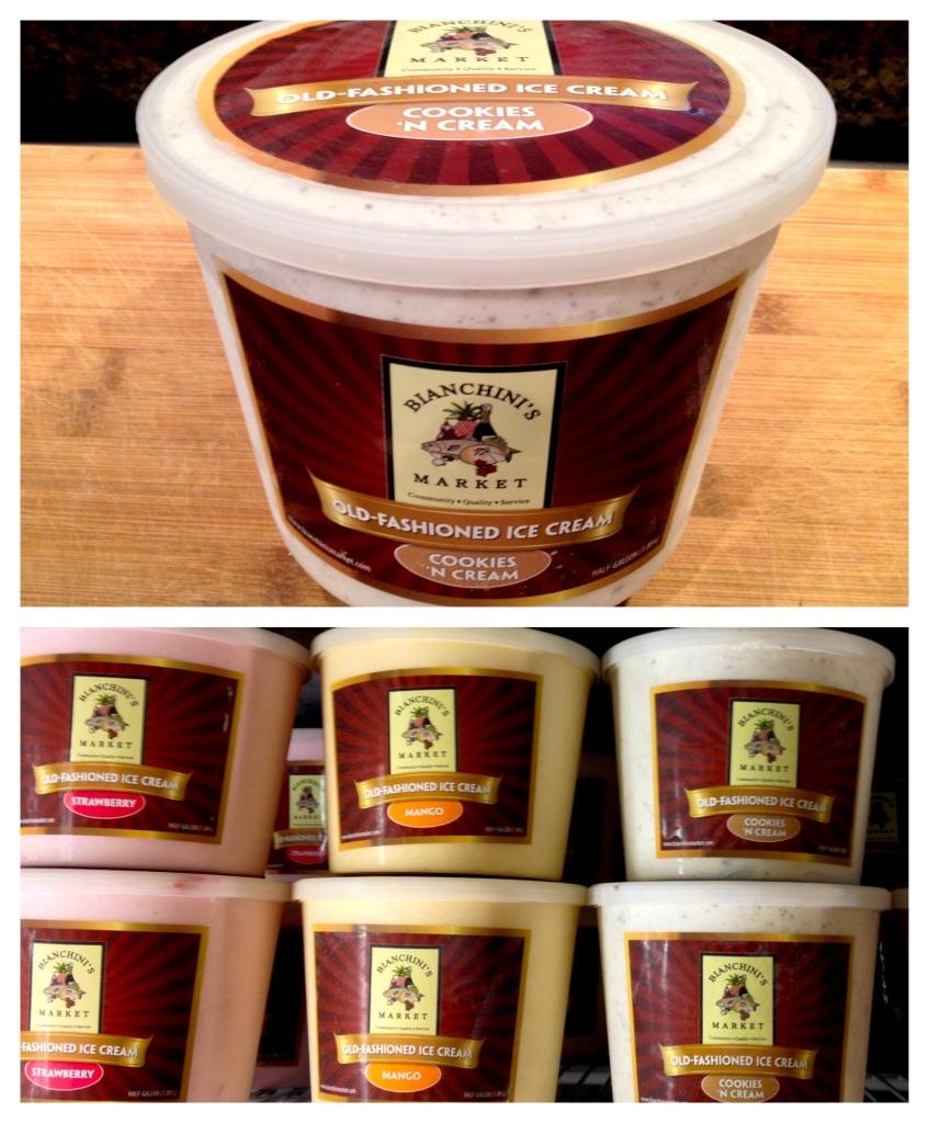 Bianchini's Ice Cream Label